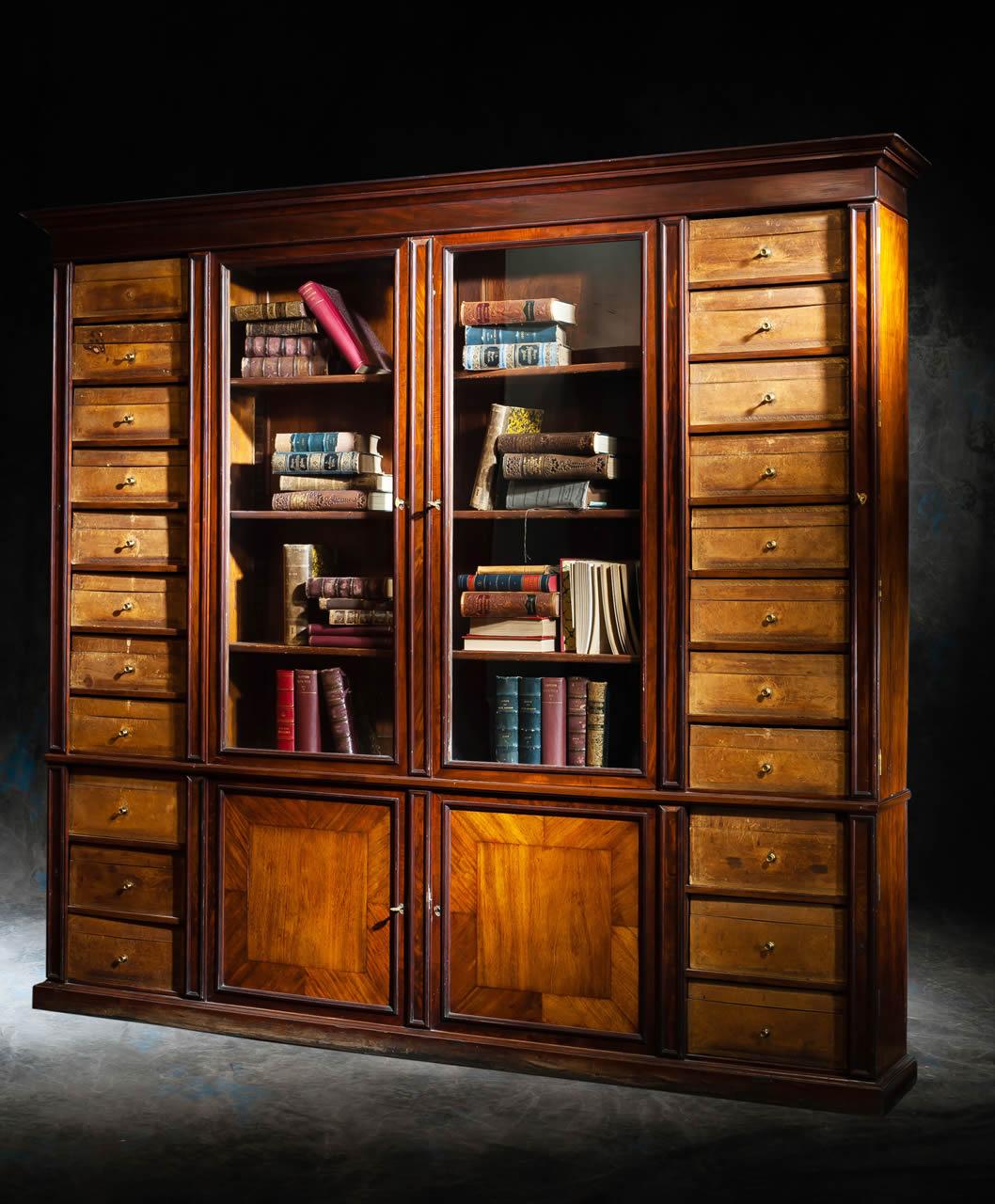 meubles anciens bibliotheque cartonier xix me bertrand klein antiquit s. Black Bedroom Furniture Sets. Home Design Ideas
