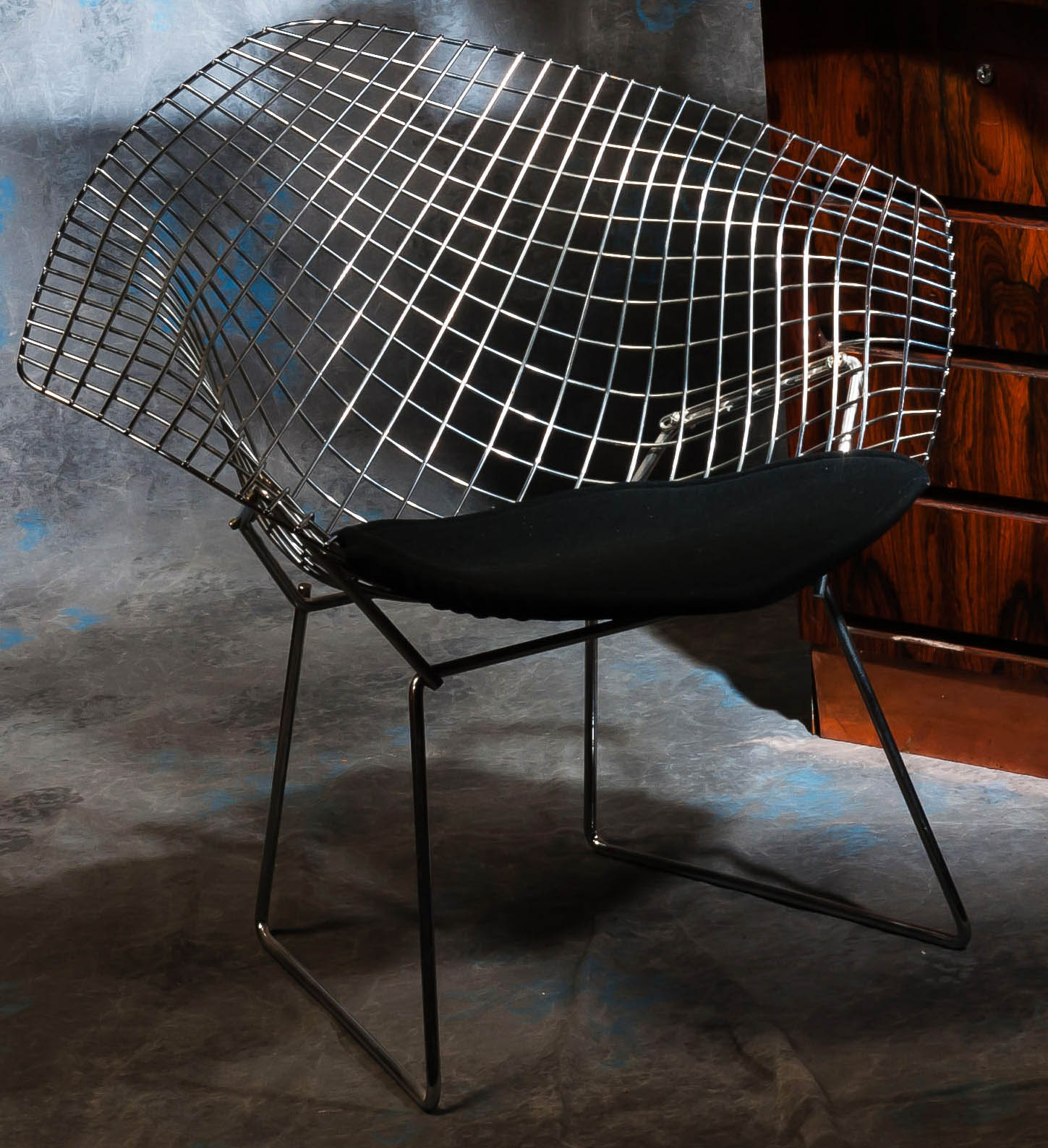meubles anciens fauteuil diamant bertoia knoll bertrand klein antiquit s. Black Bedroom Furniture Sets. Home Design Ideas