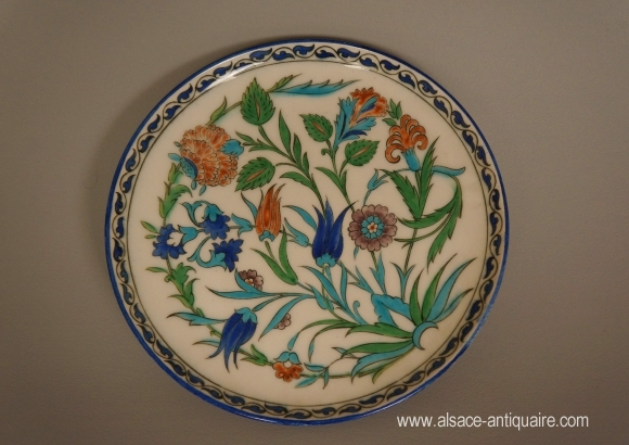 PLAT DECOR IZNIK SIGNE DECK
